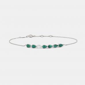 Bracelet Darling Diamant & Malachites